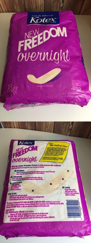 Sanitary Napkins: Vintage Kotex Overnites Extra Thick Overnight Maxi Pads 1993 New 18 Count -> BUY IT NOW ONLY: $69.99 on eBay!