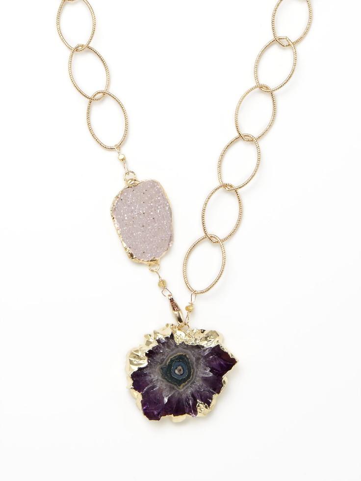 Jasper & Amethyst Stalactite Necklace by Alanna Bess: Alanna Bess, Amethyst Stalactite, Amethysts, Bess Jasper, Necklaces, Products, Bess Jewelry