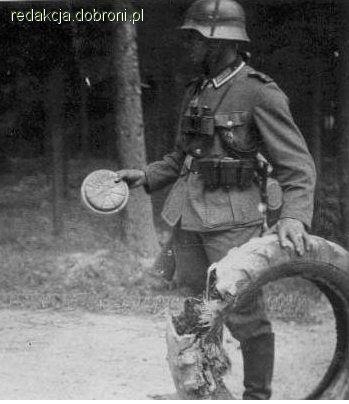 Żołnierz niemiecki z polską miną wz.37. - zdjęcie 8 z 8 | zdjęcia dobroni.pl