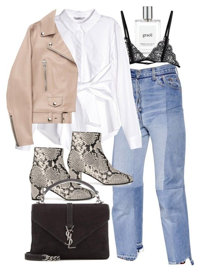 """Untitled #11260"" by minimalmanhattan on Polyvore featuring philosophy, Vetements, H&M, L.K.Bennett, Acne Studios and Yves Saint Laurent"
