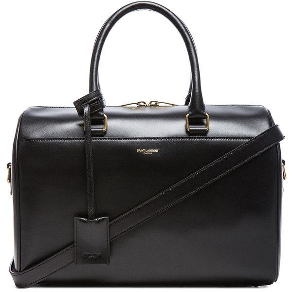 Saint Laurent Duffle 6 Bag (1.382.945 CLP) ❤ liked on Polyvore featuring bags, handbags, purses, bolsas, duffle handbag, yves saint laurent handbags, hardware bag, man duffle bag and duffle purse