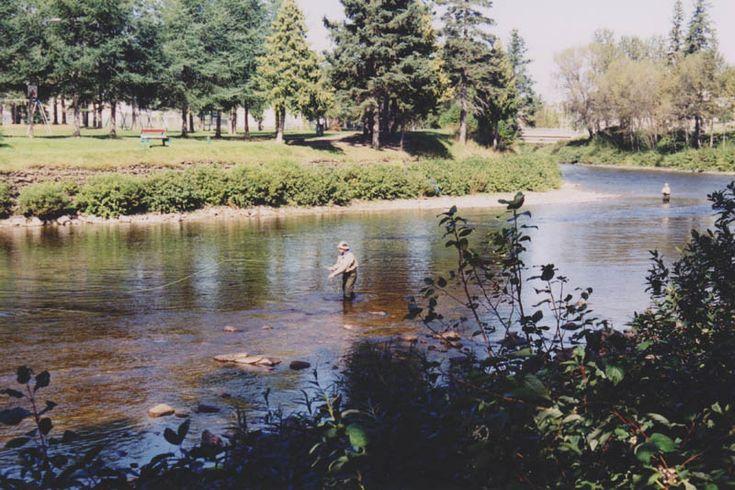Causapscal, rivière Matapédia, site historique Matamajaw, parc des Fourches, La Matapédia.