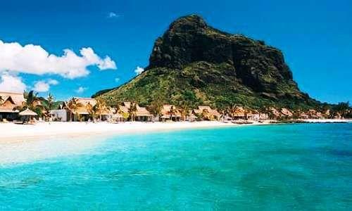Le Morne Beach on the Island of Mauritius