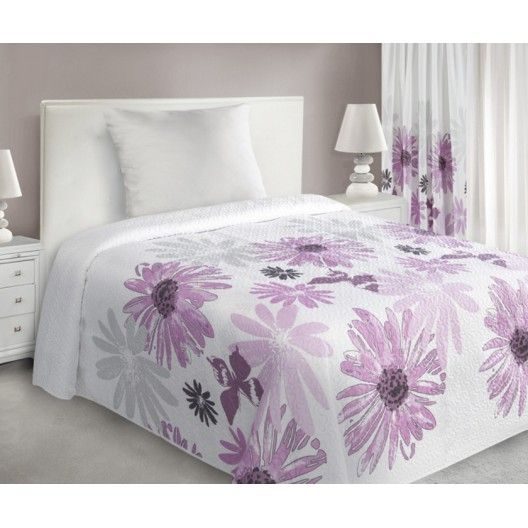 Luxusni prehoz na postel s kvetinami