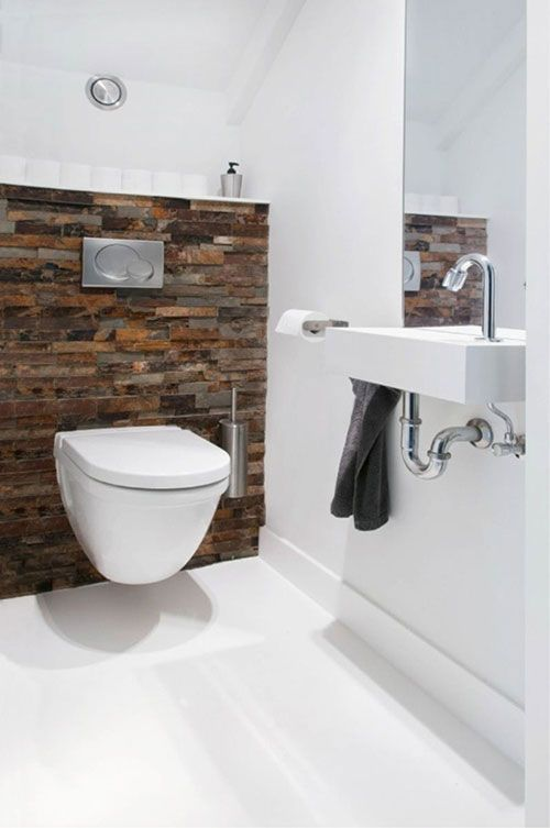 25 beste idee n over wc ontwerp op pinterest modern toilet moderne badkamers en modern - Wandbekleding voor wc ...