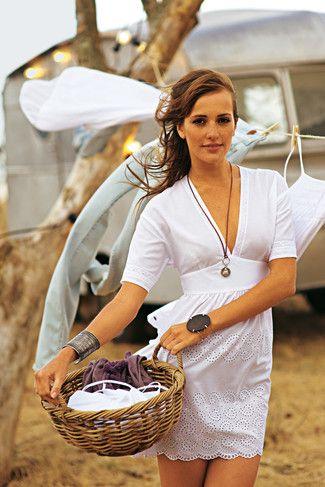burda style, Schnittmuster zum Download - Tunika-Kleid mit Bindebändern