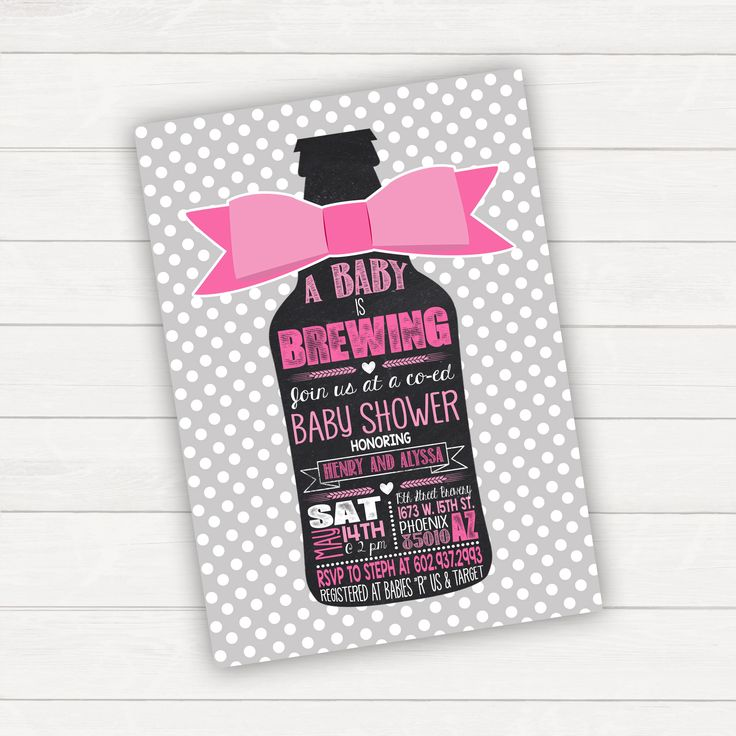 Baby Brewing Baby Shower Invitation Baby Girl Baby Shower Pink Baby Beer Baby Printable Baby Baby Is Brewing Bow Baby Shower Invite by CLaceyDesign on Etsy https://www.etsy.com/listing/266855816/baby-brewing-baby-shower-invitation-baby
