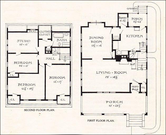 1920 s dutch colonial floor plan for Dutch colonial floor plans