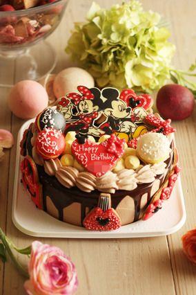 ミッキーとミニーのお誕日ケーキ|レシピブログ