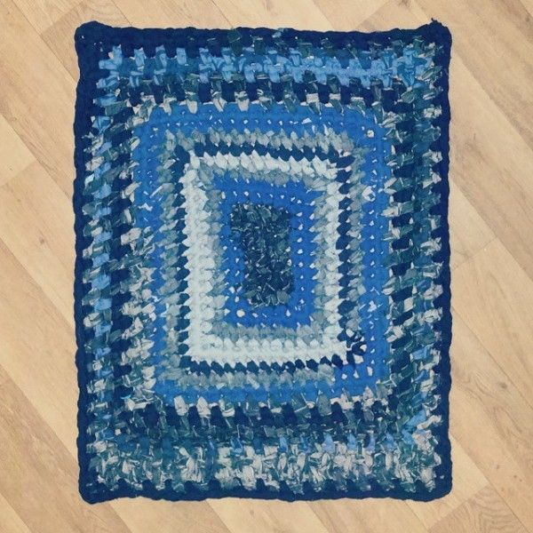 Denim Upcycled Into A #crochet Rag Rug From Little_v_and