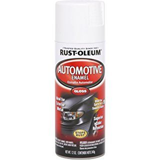 Rust-Oleum 252468 Automotive 12-Ounce Enamel Spray Paint, Gloss White
