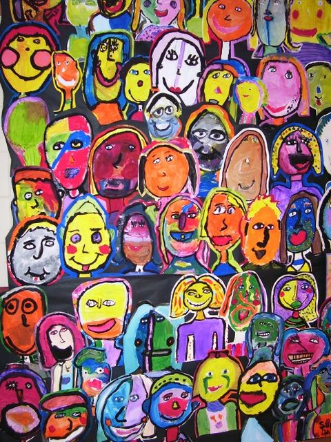 Faces of our classroom :) (After Matisse lesson)