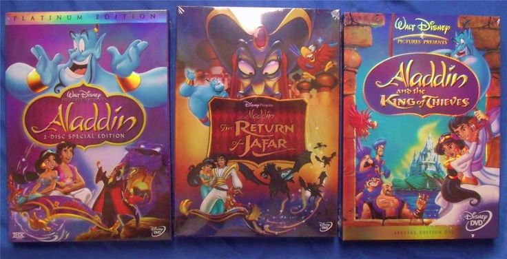 Get your very own Aladdin DVD trilogy! $29.99 on eBay for a limited time! Limited quantity available. Ships Fast! Ships Free!   Suggested retail $59.99!