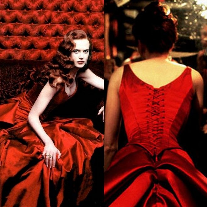 The Red temptress dress from Moulin Rouge.I love the film so much..And the dress ♥_♥