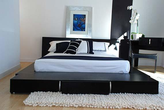 Japanese Bedroom Black and White