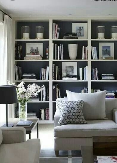 Shelving With Accent Wall Paint Bookshelves In Living Room Living Room Shelves Living Room Grey