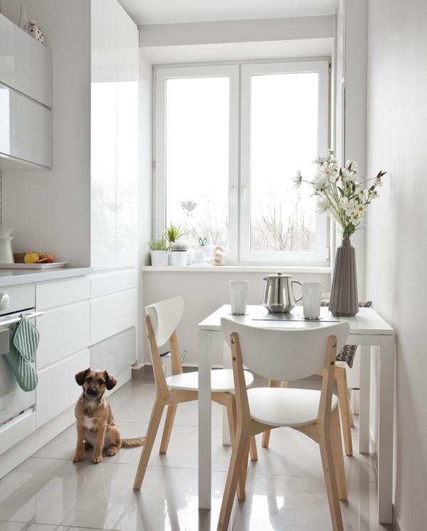 białą kuchnia ikea krzesła  WHITE KITCHEN  Pinterest   -> Kuchnia Ikea Grytnas