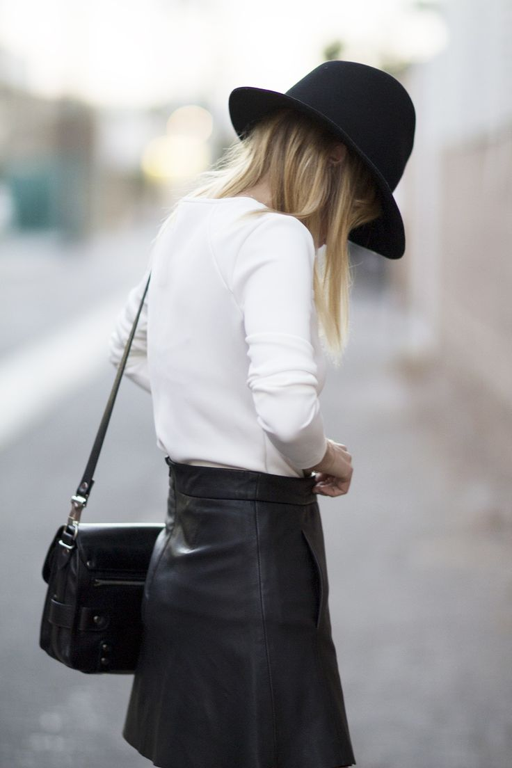 leather + wide brimmed hats