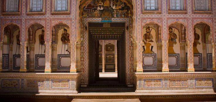 Viaje de novios a India Romántica - Palacio Samode. #ViajeDeNovios #LunaDeMiel #India