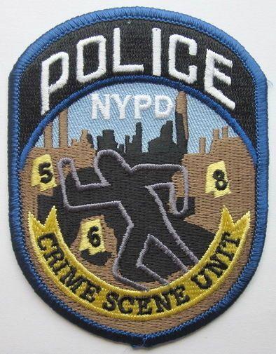 NY NYC PATCH POLICE CRIME SCENE UNIT POLIZEI