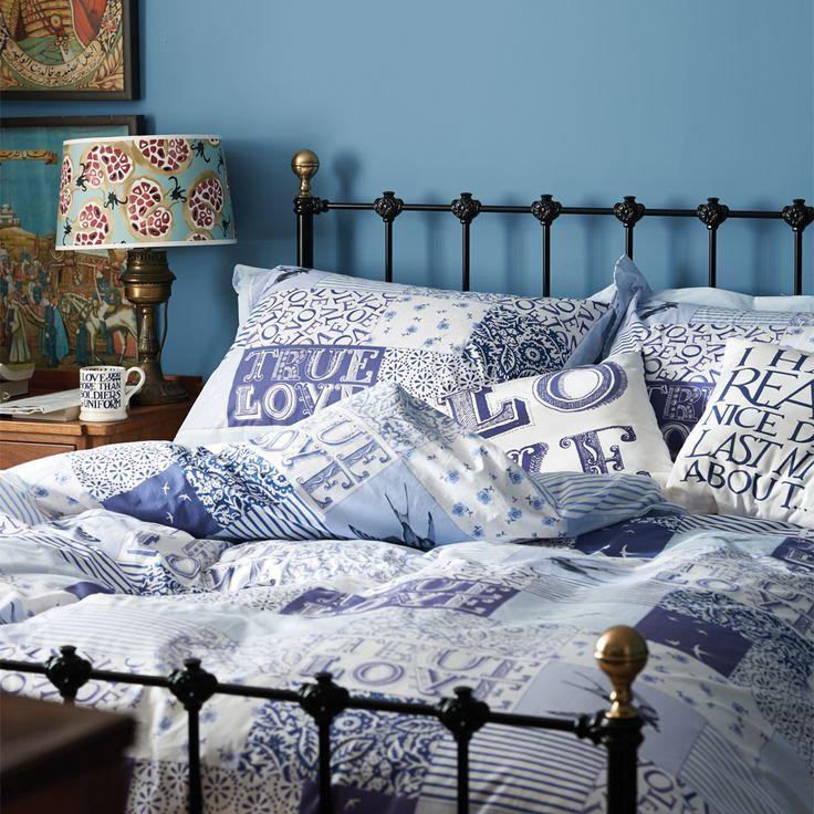 Blue Patchwork Bedding