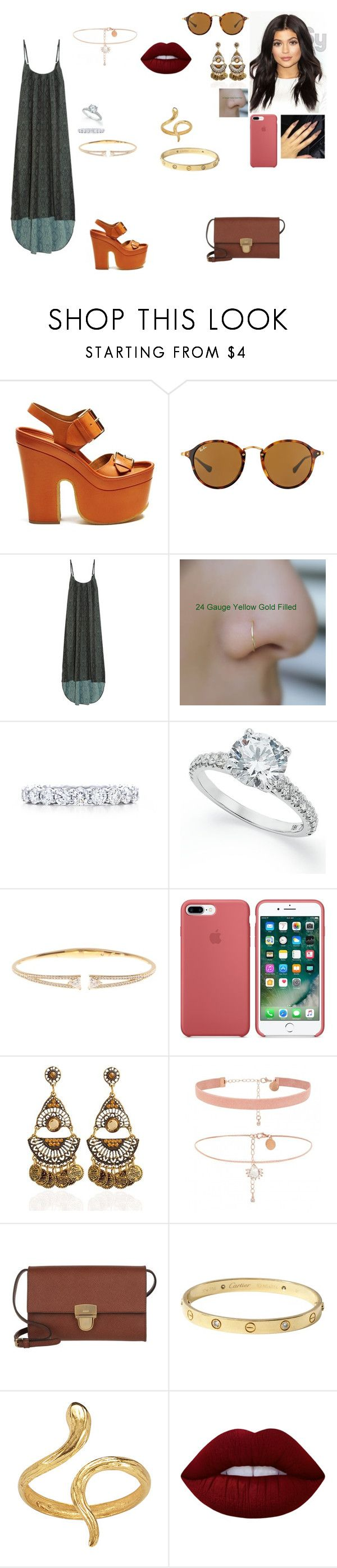 """Sally going to a romantic trip with her husband in San Franscico."" by princesscece6 ❤ liked on Polyvore featuring STELLA McCARTNEY, Ray-Ban, Melissa Odabash, Tiffany & Co., Nadri, Joop!, Cartier, Madina Visconti di Modrone and Lime Crime"