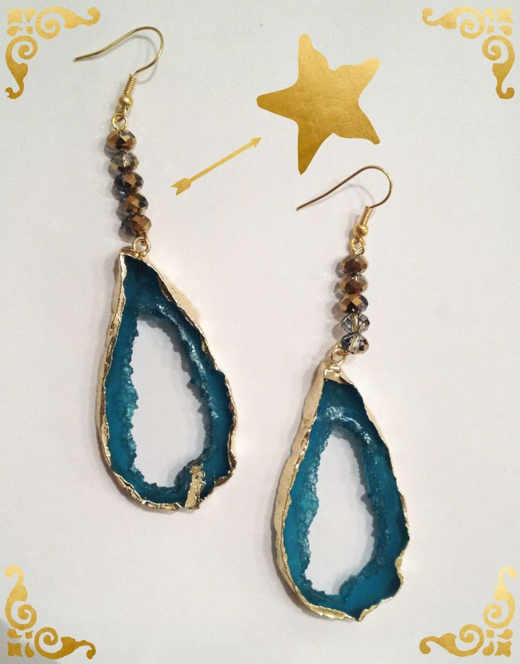 Long turquoise earrings by Calliopesboutique on Etsy
