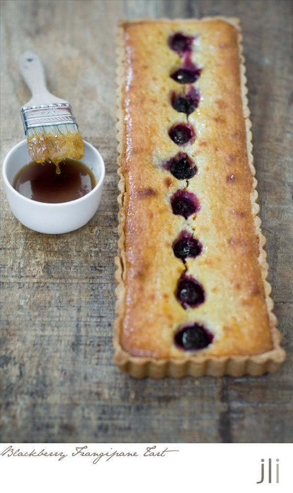 Tana Ramsay's Blackberry Frangipane Tart, photo: Jillian Leiboff; pie recipe found here: http://www.goodtoknow.co.uk/recipes/530386/tana-ramsay-s-almond-and-blackberry-tart