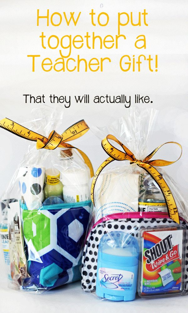 Teacher Gift.  Good gift idea for various professionals.