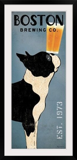 Add character to your home bar with this Boston Terrier framed print from GreatBIGCanvas.com
