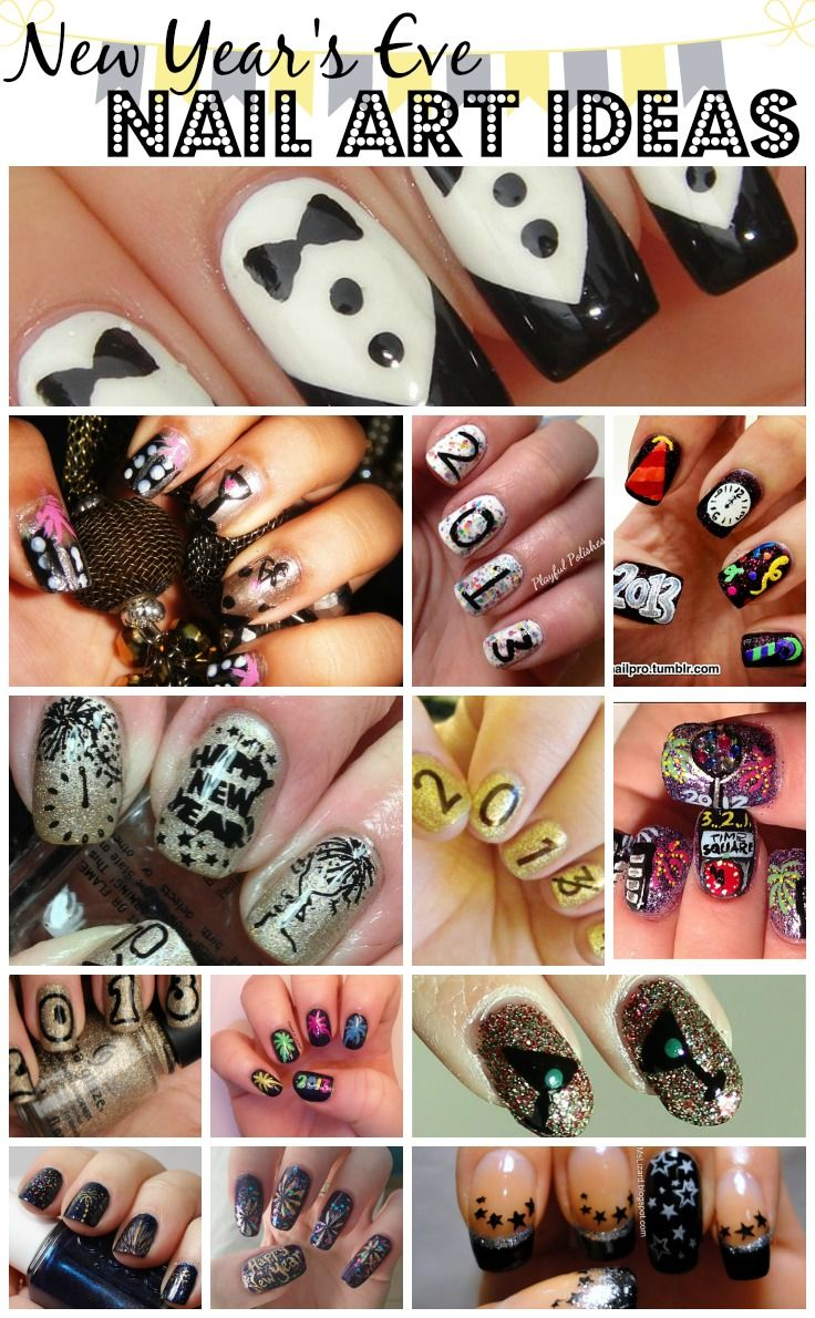 It's almost time for the New Year! I've rounded up some of my favorite New Year's Nail Art Designs for you here! Want to know where to find them? Click the pictures below for the original sources!