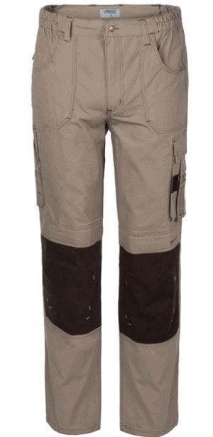 Pantalone Da Lavoro Con Porta Ginocchiere A 2 Colori Beige Cacao