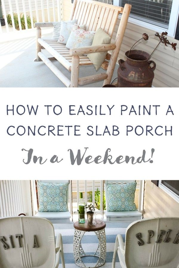 how to build a cement porch