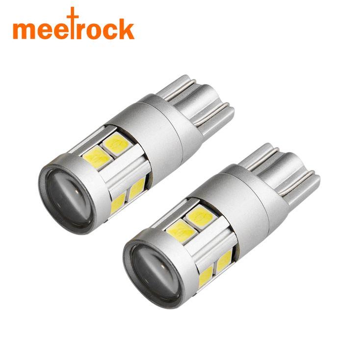 Meetrock 2x super bright led t10 w5w samochodów lampa 9 smd 3030 EMC auto czytanie parking marker tylne światła przeciwmgielne 152 194 12 v biały 6000 K
