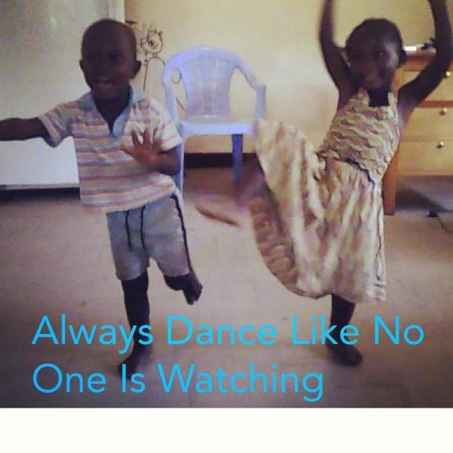 Always dance like no ones watching. Beautiful happy and finally healthy in our Children's Home in Kisumu Kenya. www.suluhisho.com