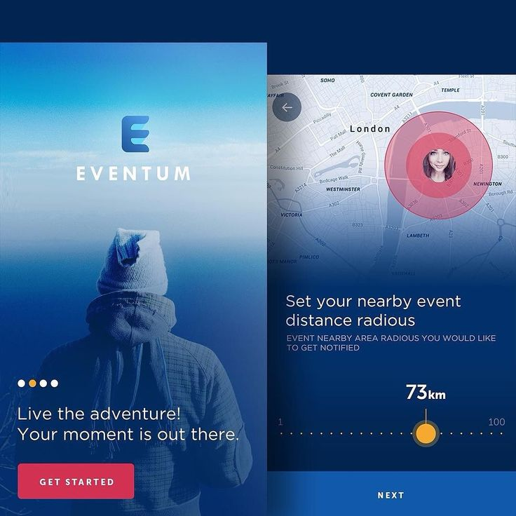 Working on a social event management app! Eventum helps you to join and explore nearby events. This is a part of the signup flow. Will update more screens soon.  find more at #dribbble http://ift.tt/1Qey2vZ  #app #ios #events #map #intro #location #login #mobile #signup #start #walkthrough #userinterface #behance #iphone #design #uiux #userexperience  @uitrends @ui.designs @ui_daily @uidesigninspiration @instaui @iosinspiration @sliceofui by eftix