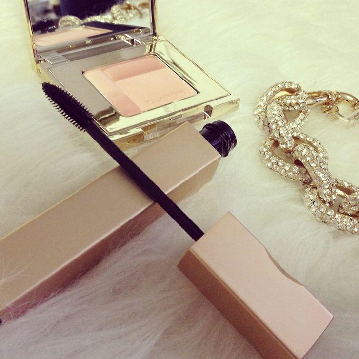 New Clarins Mascara and blush.