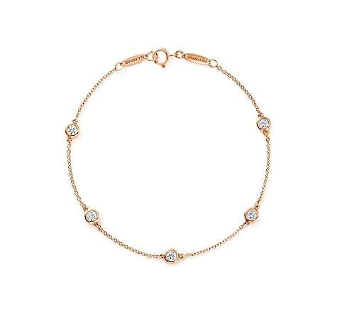 Tiffany & Co. | Item | Elsa Peretti®️️ Diamonds by the Yard®️️ bracelet in 18k rose gold. | United States