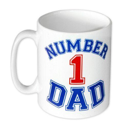 Día del padre – Number 1 Dad Taza de cerámica en caja de presentación