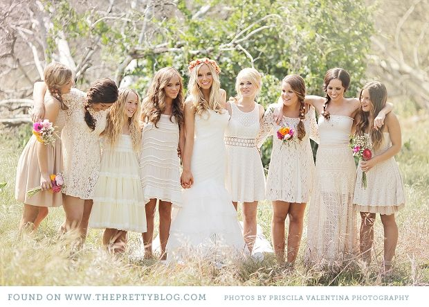 Bridesmaids. . . none of my friends look the same so different dresses suit them perfectly! #TheLANEWedding #BulgariResortBaliEscape