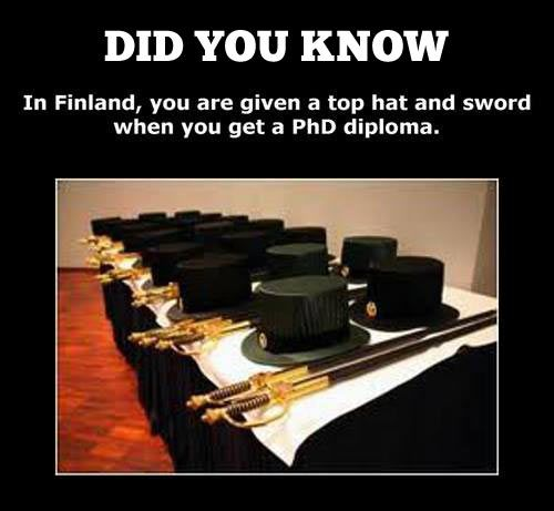 I see no point in furthering my education anywhere other than Finland.
