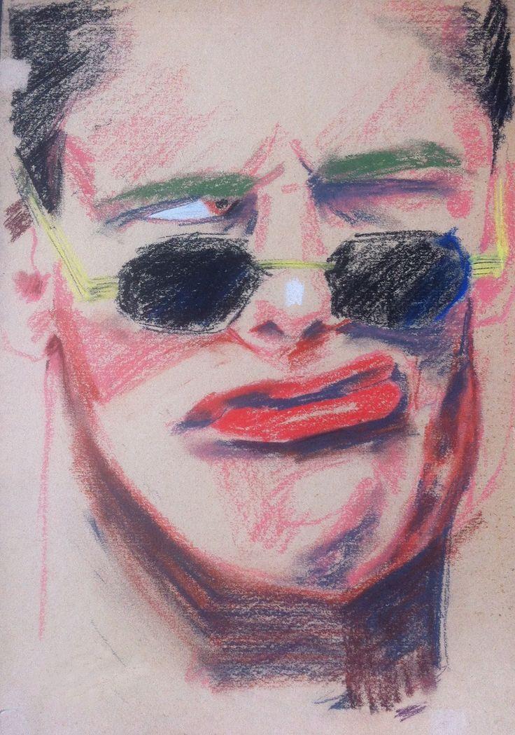 Мужской портрет, 30х40 см, бумага, пастель