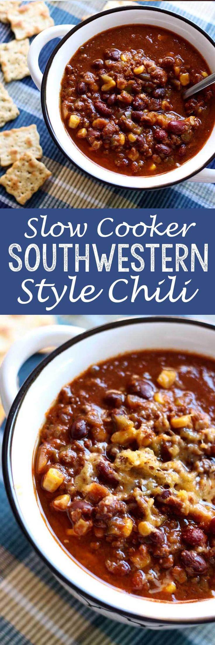 Slow-Cooker Southwestern Style Chili - Eazy Peazy Mealz