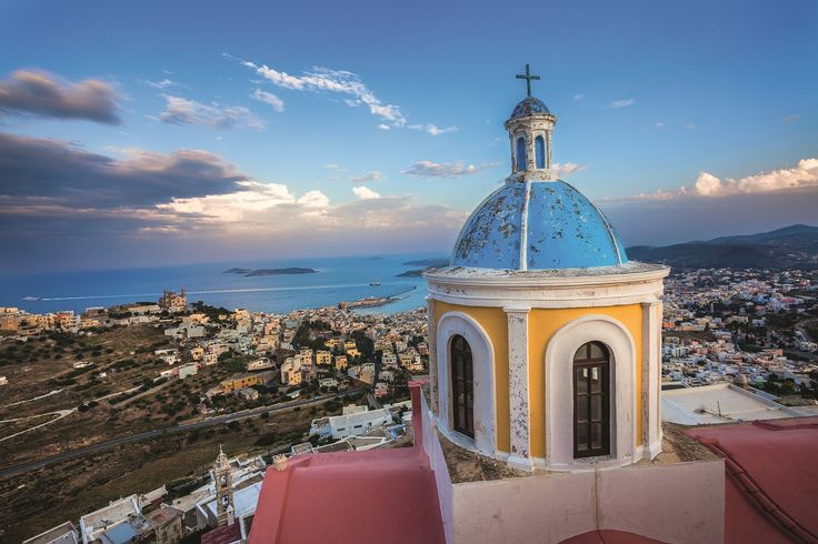 Meet Syros!  An elegant beauty that will conquer a place in your heart! #Celestyalcruises #Syros #elegant #beauty #view