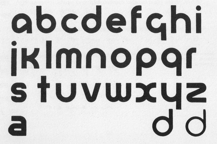 Herbert Bayer Universal Alphabet, from Visible Word
