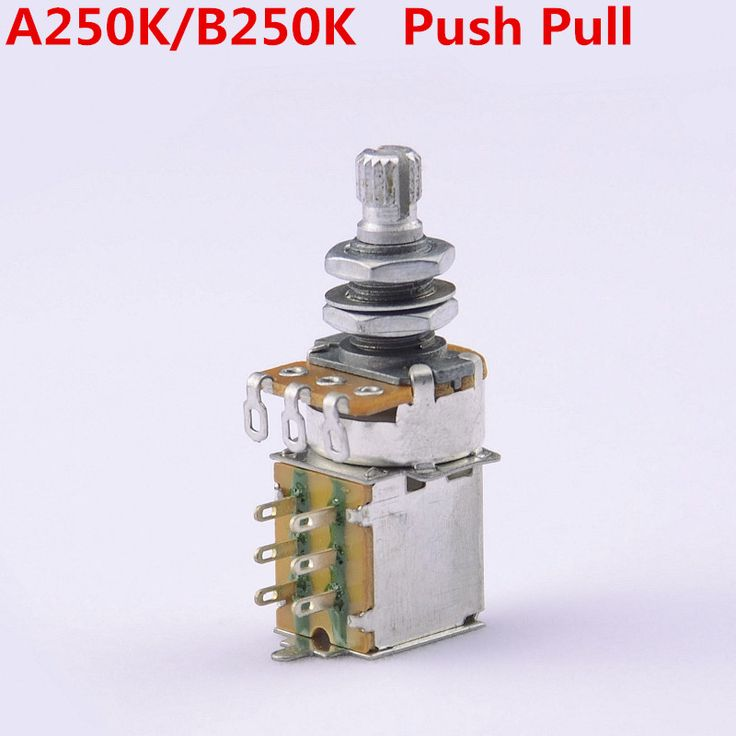 1 Piece GuitarFamily  A250K/B250K  Push Pull Switch  Potentiometers(POT) For Electric Guitar Bass  ( #1119 )