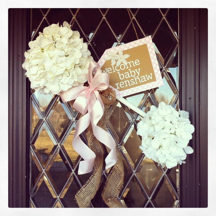 Baby Rattle Door Hanger - Welcome Home!