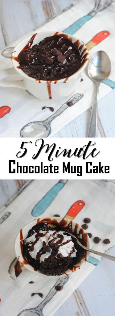 Looking for an easy mug cake recipe? This 5 Minute Chocolate Mug Cake is delicious and so easy to make. Made up of cocoa power, eggs and milk and ready in under 5 minutes - A Spark of Creativity
