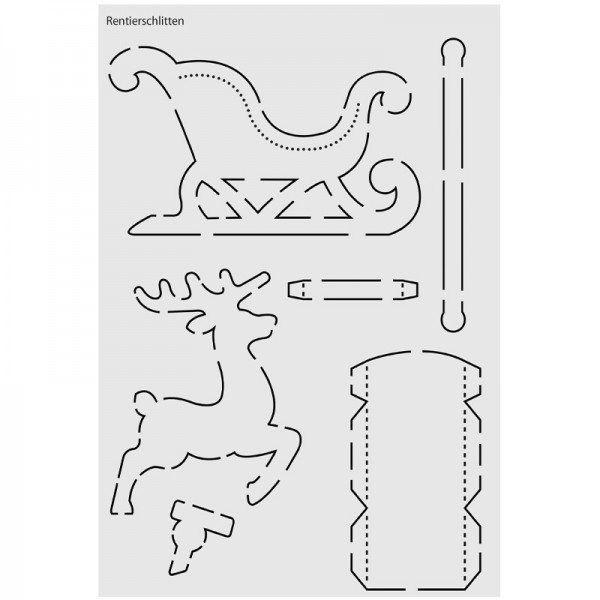 Szene Dekoration Kunststoff Schablone für DIY Scrapbooking Papierkarten Handwerk