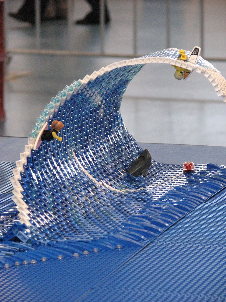 Model Railway Expo 2013 Lego stand. Lego wave...darn these are clever people!